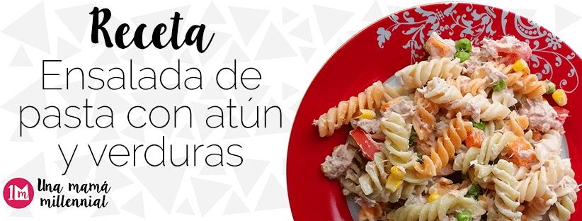 Receta de ensalada de pasta con atún y verduras